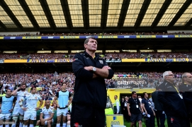 LONODN, ENGLAND - MAY 28: during the Aviva Premiership final match between Saracens and Exeter Chiefs at Twickenham Stadium on May 28, 2016 in London, England.